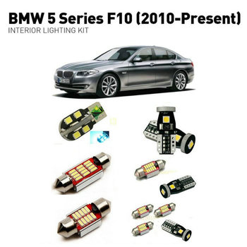 Led interior lights For BMW 5 series f10 2010+ 19pc Led Lights For Cars lighting kit automotive bulbs Canbus Error Free