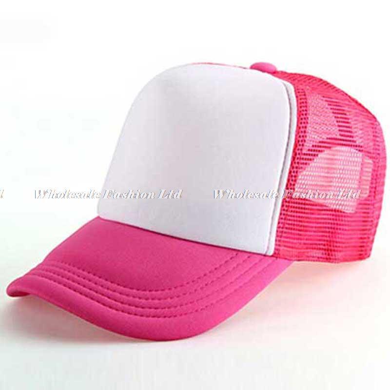88bb175c218 10pcs Lot Cheap Kids Blank Trucker Hats Children Spring Two Tone Snapback  Hat Boy Summer Sun Visor Cap Girl Mesh Caps Wholesale-in Baseball Caps from  ...