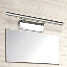 Moderno 5 W 7 W 9 W 12 W led luces de espejo de baño lámparas de pared nueva de acero inoxidable cubierta iluminación de la decoración freeshipping