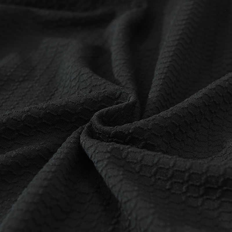 抗汚い黒防水弾性ソファ/コーナーソファは家の厚 Universal ストレッチソファ Slipcovers ラブシートカバー