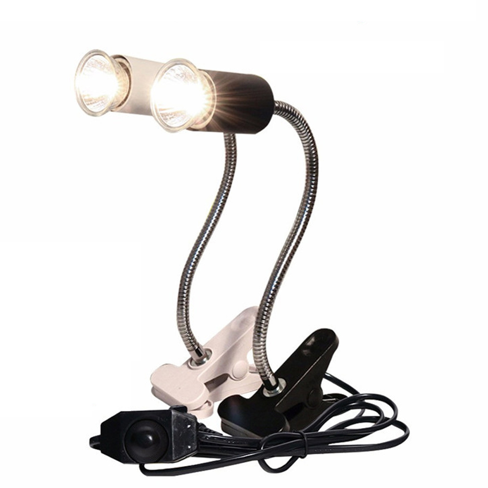 Reptile Uva Uvb Lamp With Clip-on Bulb Lamp Holder Kit Turtle Basking Uv Heating Lamp Bulb Set Tortoises Lizards Light Lighting
