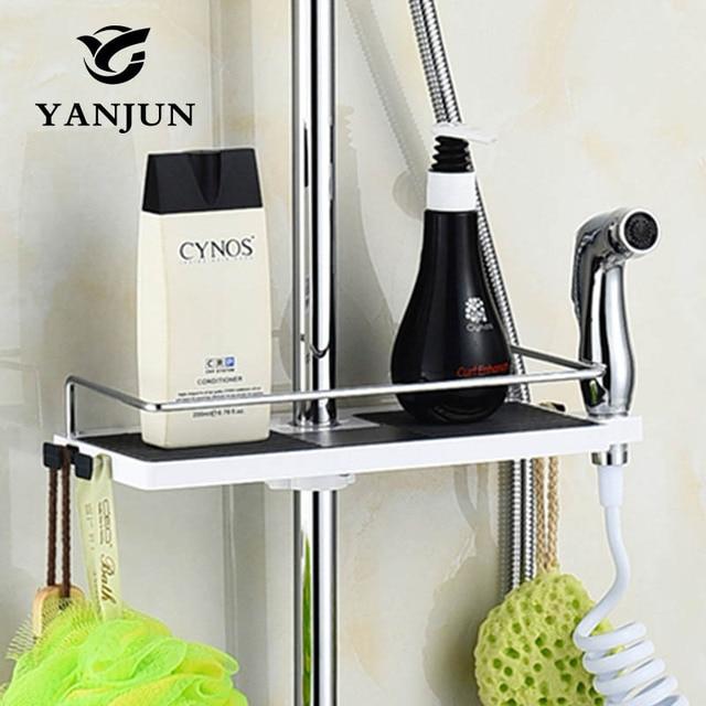 Yanjun Single Tier Shower Head Holder Shelf Shower Storage Rack ...