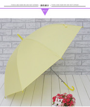 2016 neue bonbonfarbenen langstieligen regenschirm UV sonnenschutz sonnenschirme starke PVC grün gefrostet automatisch prinzessin regenschirm