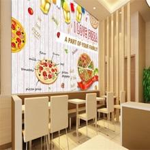 Custom 3d wallpaper mural western restaurant pizza background wall advanced waterproof material цена 2017