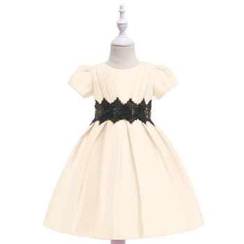Free shipping Flower girl dresses for weddings and party Girls dresses 2019 2015 elegant a line and knee length flower girl dresses for weddings layered and unique handmade flower design
