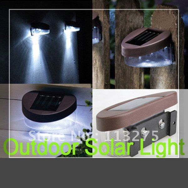 6pcs Outdoor Solar Powered 2 LED Wall Stairway Mount Garden Cool White  Light Lamp - 6pcs Outdoor Solar Powered 2 LED Wall Stairway Mount Garden Cool