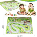 Huge Large Baby Play Mat 150cm*130cm Racing Road Developing Crawling Rug Carpet Educational Toys For Kids Game PS41-3