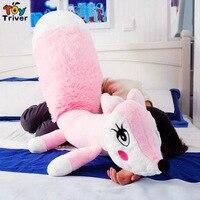 Cute Soft Plush Long Tail Fox Toy Stuffed Cartoon Foxes Doll Pillow Cushion Bloster Baby Kids Friend Girl Birthday Gift Triver