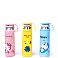 Cute Cartoon Hello Kitty Doraemon Yellow People Stainless Steel Vacuum Flask Thermos Insulated Water Bottle With