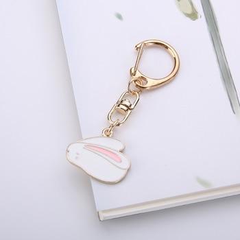 Gwwfs Cute Mini Rabbit Carrot Animal Footprints Car Keychain Bag Charm Men And Women Jewelry 2019 Fashion  Couple Jewellery 1