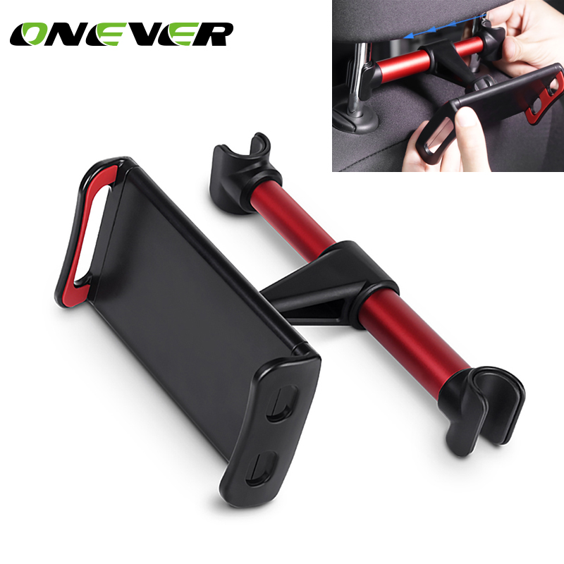 Onever 4-11 inch Phone Tablet PC Car Holder Stand Back Auto Seat Headrest Bracket Support Accessories For iPhone X 8 iPad Mini