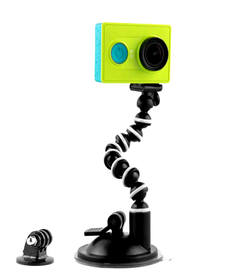 Flexible Car Sucker Holder Mount Octopus Suction Cup for GoPro  Hero 7/6/5/4/3/3+/2/1 SJ4000 SJ5000 Mini CamcorderFlexible Car Sucker Holder Mount Octopus Suction Cup for GoPro  Hero 7/6/5/4/3/3+/2/1 SJ4000 SJ5000 Mini Camcorder