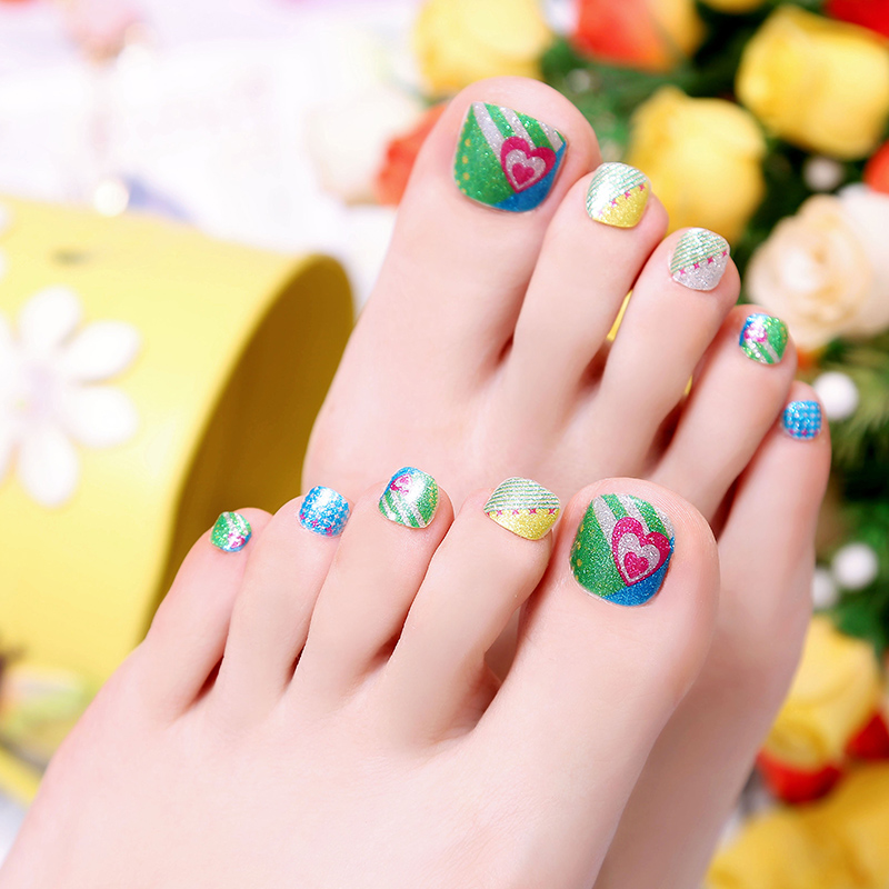 kisscolo new environmental foot nail stickers affixed child pregnant ...