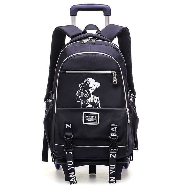 7dee7c879d35 Boy Rolling Backpack On 2 6 Wheels Boy s Trolley School bags Children s  Travel luggage Bag