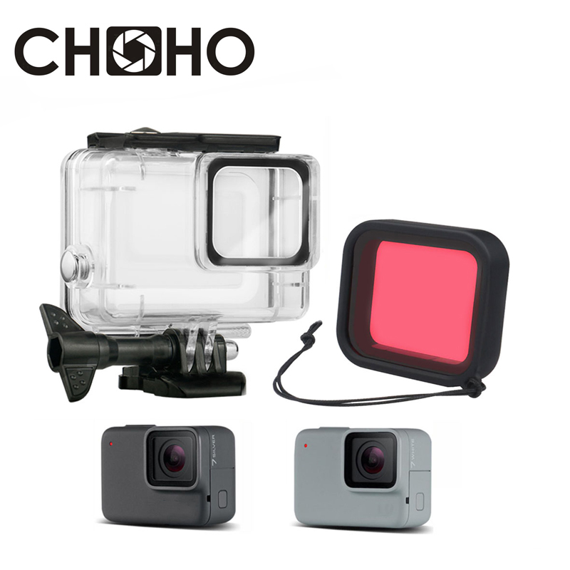 Plus Red Filter Deep Dive Waterproof Housing Black White for GoPro HD Hero 3
