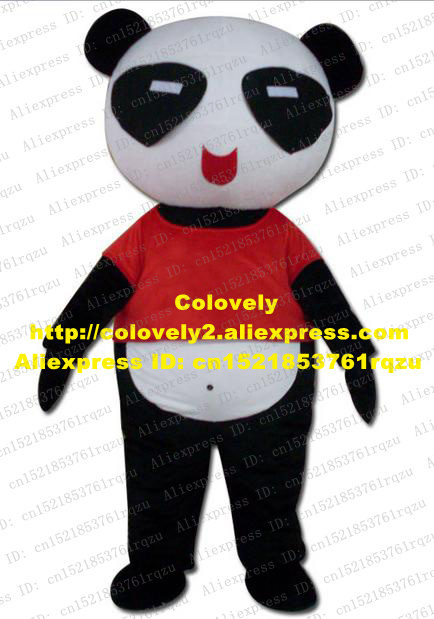 lever Panda Bear Bearcat Catbear Mascot Costume Adult Character Mascotte Black Body Red Coat White Belly ZZ3204 Free Shiping-in Mascot from Novelty ... & lever Panda Bear Bearcat Catbear Mascot Costume Adult Character ...
