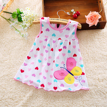 Baby Dress 2016 Hot Sales Princess Girls Dress 0-1years Cotton Clothing Baby Infant Summer Clothes