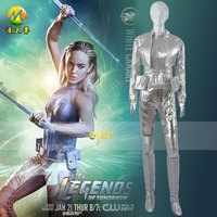 Legends of Tomorrow Sara Lance Cosplay Costume White Canary Cosplay Dress Halloween Full Suit For Women Accept Customized