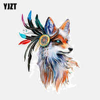 YJZT 11.8CM*16CM Beautiful Fox Animal Car-styling Car Sticker Decoration Decal PVC 5-0987