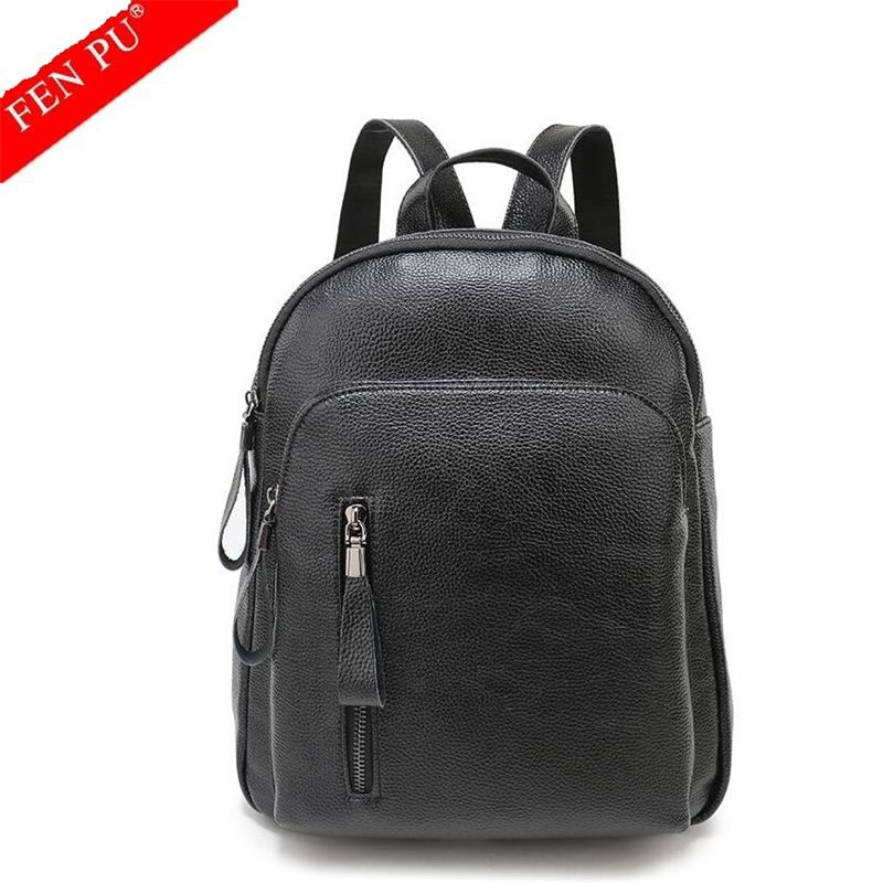 2017 NEW Fashion Genuine Leather Women Backpack Hot High Quality Famous Brand Women School Bag Girl Women backpack travel bags vieline genuine leather women backpack famous brand lady leather backpack leather school bag free shipping