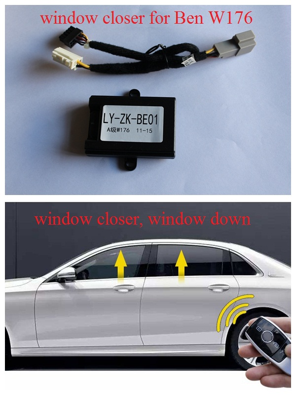 Car Window Closer Car Alarm System Power Auto Window Roll Up Automatic Close Car Windows For Benz A W176 B W246