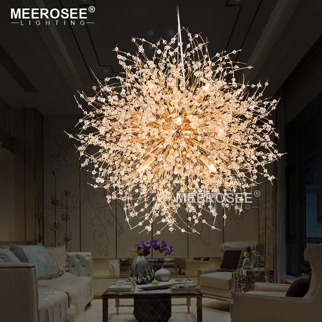 2017 nouveau cristal suspension lampe ronde moderne. Black Bedroom Furniture Sets. Home Design Ideas