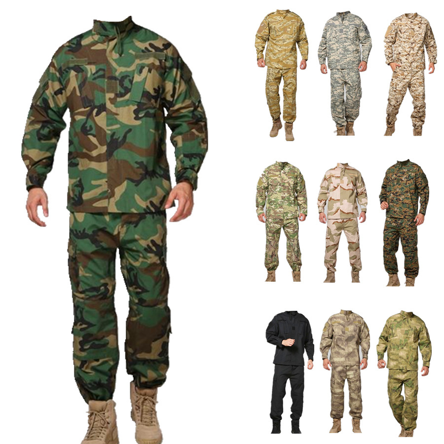 купить Mens Ghillie Suits US Military ACU Army Cotton Polyester Men Black Python Camouflage Uniform Tactical Combat Camo Uniforms 1 Set по цене 3133.32 рублей
