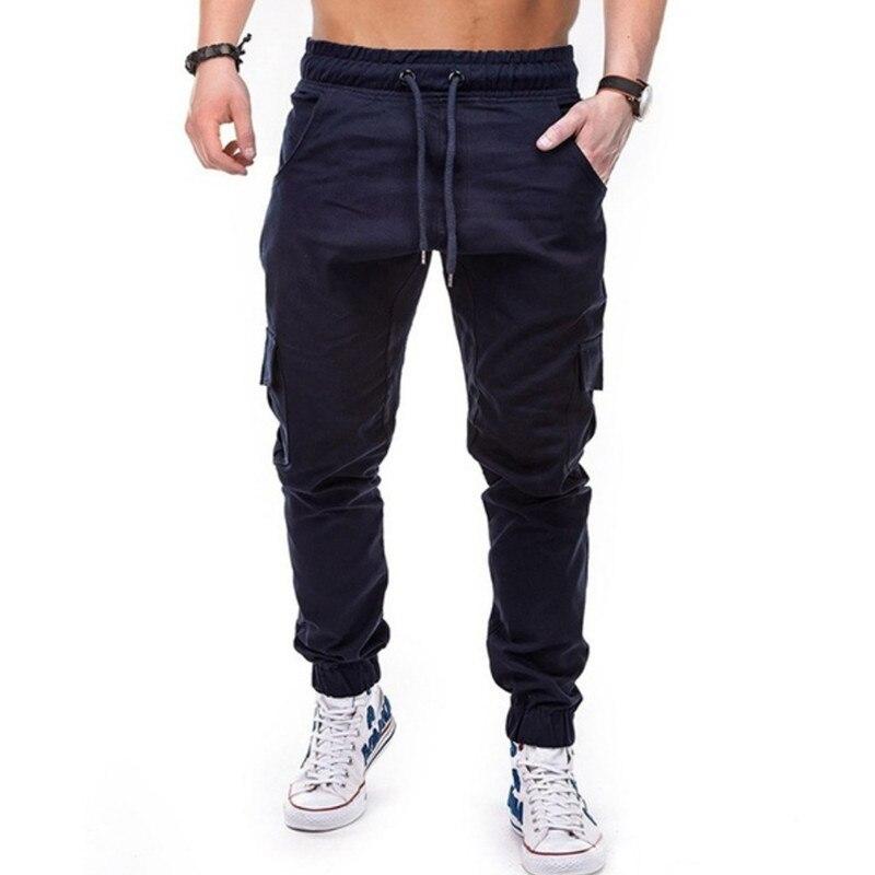 Men Pants Straight Leg De Los Hombres De Algodon Slim Urbano Casual Pantalones Ebay