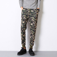 Mens Joggers New Casual Slim Fit Men Skinny Camouflage Pants Military Army Harem Sweat Trousers Mens