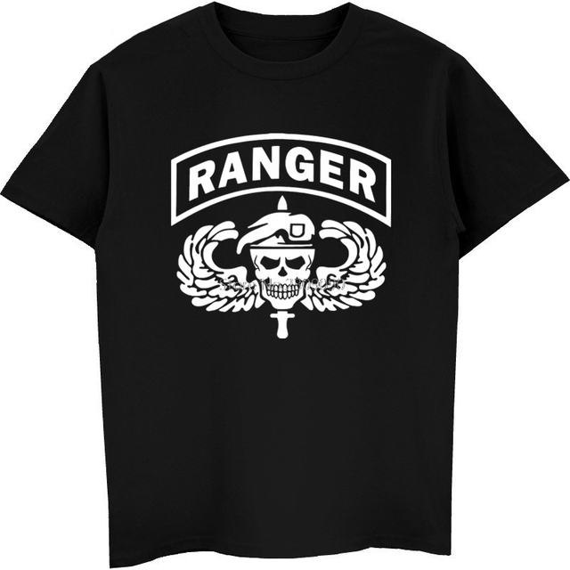 Fashon Men S Cotton O Neck T Shirt Us Army Ranger Skull T Shirt