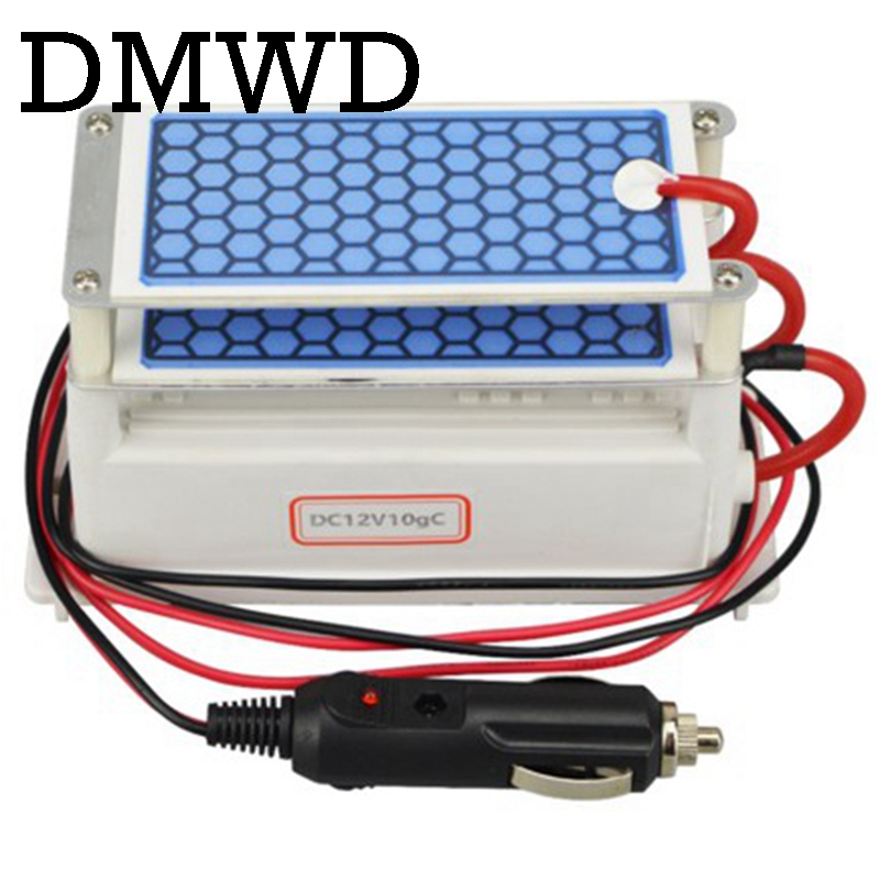 DMWD 10g Ozone Generator water Purifier Double Integrated Ceramic plates Ozonizer Air Cleaner Sterilizer Ionizer 12V 110V 220V air purifier 220v ozone generator 600mg water food water air sterilizer generator ozone water purifier ozone machine