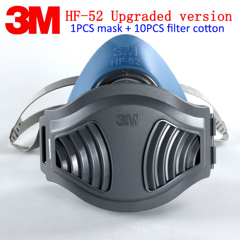 3M HF-52 Respirator Dust Mask New Upgrade 1211 Respirator Mask Particulates Dust Pollen Radioactive Dust Respirator Face Mask