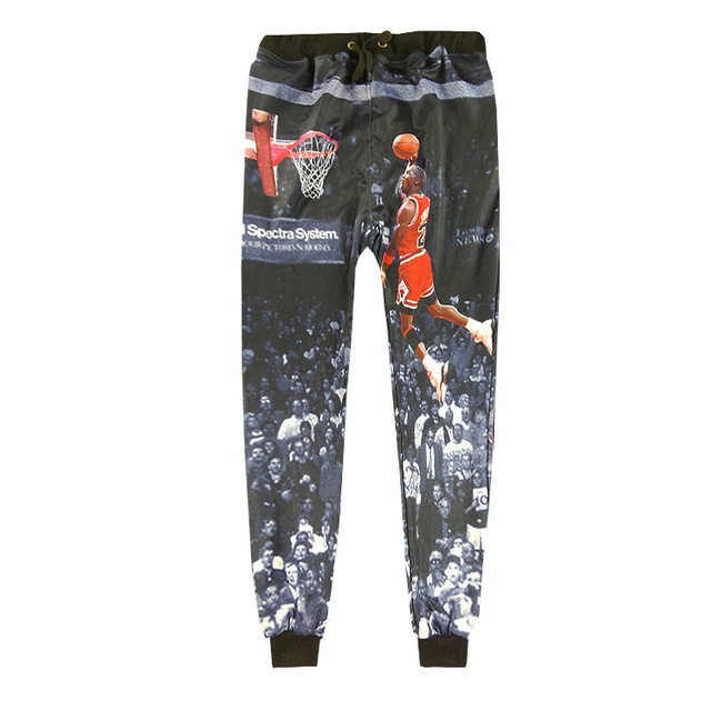 9382c416d015d9 Hip Hop Street Style Men Jogger Pants 3D Micheal Jordan 23 Last Dunk  Graphic Cool Sweatpants Casual Loose Full Length Trousers