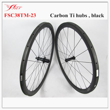 Light wheelset with aerodynamic design 700C 38mm carbon tubular bicycle wheels 20.5mm 23mm 25mm width , UD / 3K matt / glossy