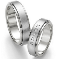 2014 Классический западный Пользовательские здоровья pure titanium кольца обручальные кольца, наборы