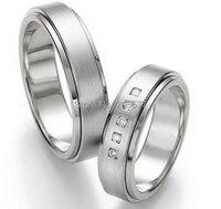 2014 classic western custom health pure titanium rings wedding rings sets