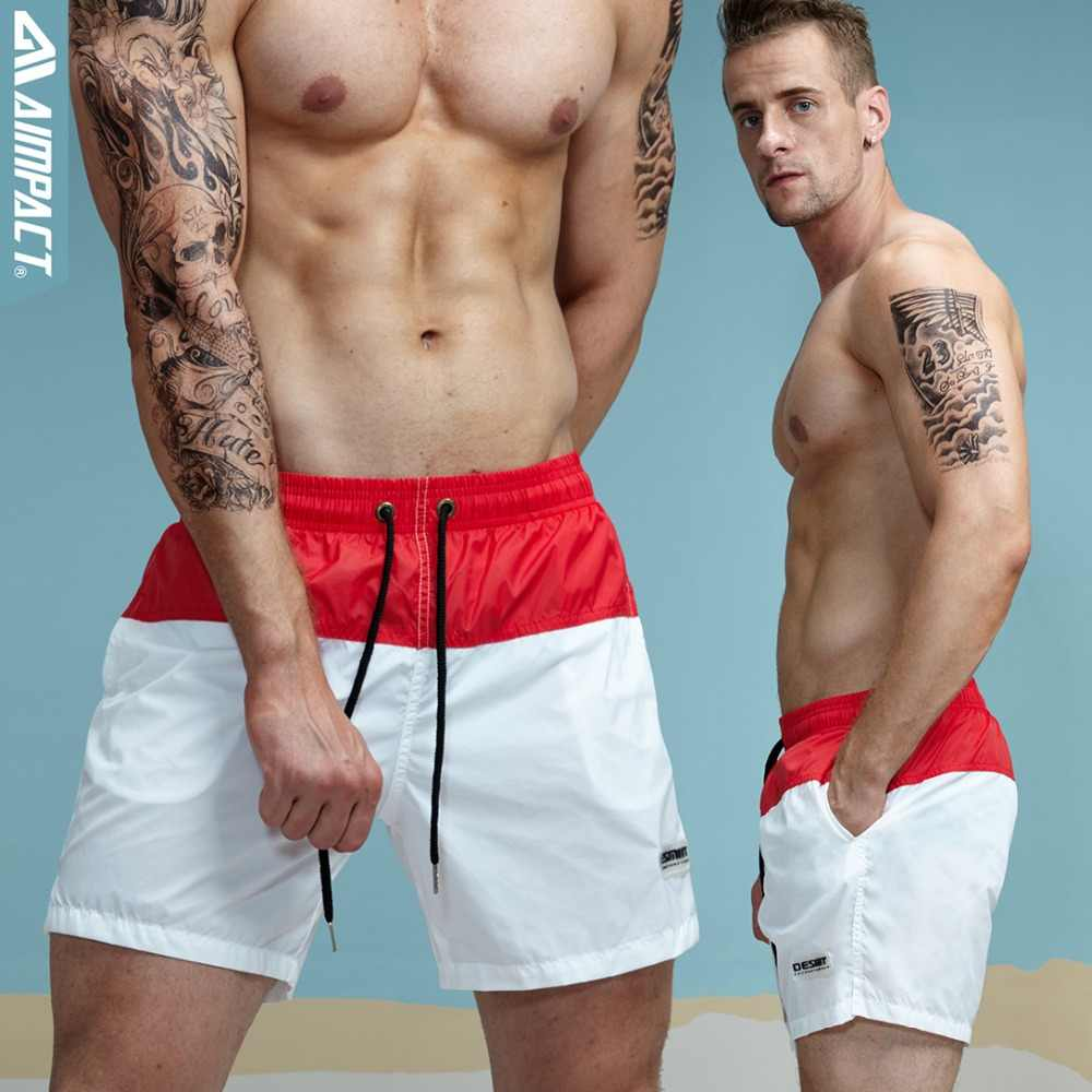 da9bb91886 ... Aimpact Fashion Summer Sexy Beach Men's Shorts Leisure Lining Liner Men  Board Shorts Patchwork Fast Dry ...
