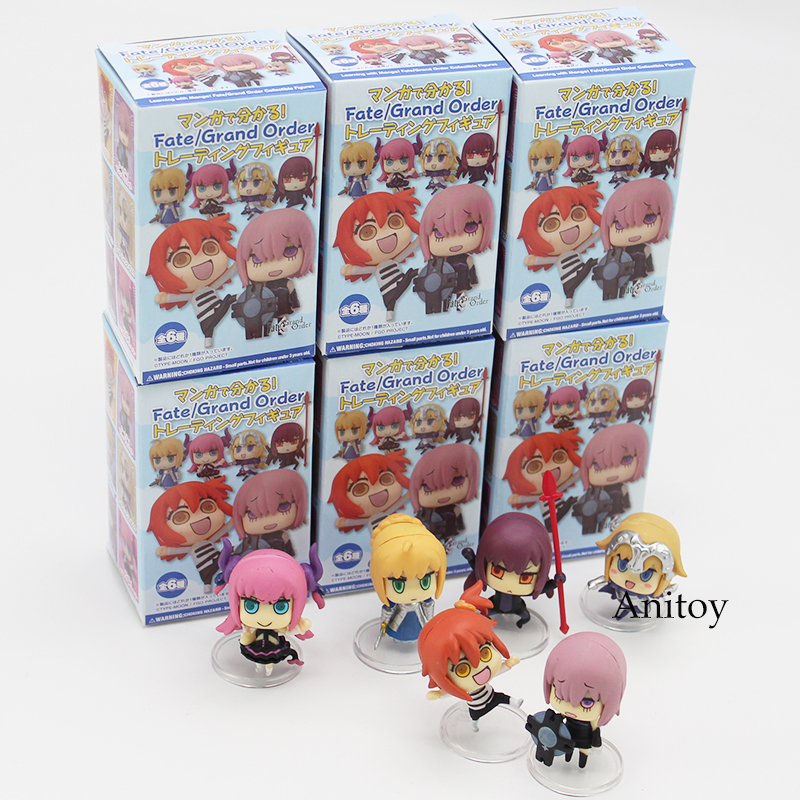 Fate/Grand Order Saber Mini Scathach Matthew Jeanne PVC Action Collectible Figures Toys 6pcs/set 4cm le fate топ