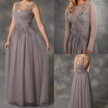 Simple A-Line Gray Chiffon Mother Of The Bride Dres