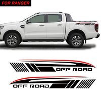 car stickers 2pc rear trunk off road gradient graphic vinyl protect modified accessories racing decal custom for FORD RANGER