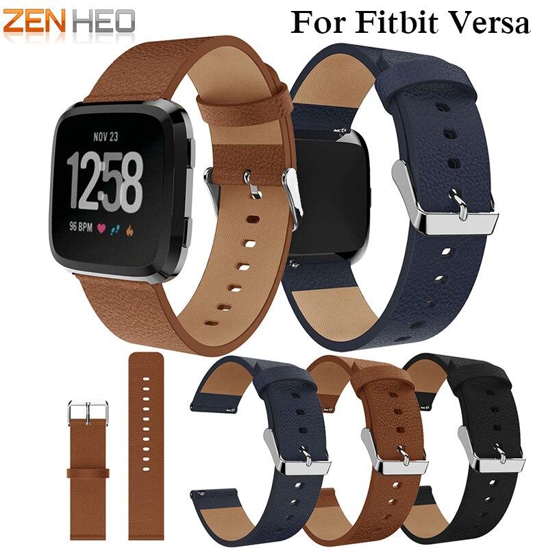 ZENHEO Replacement Watch band 2018 New good Leather wrist Watch Band Strap Bracelet Belt for fitbit versa Smart Watch wristband