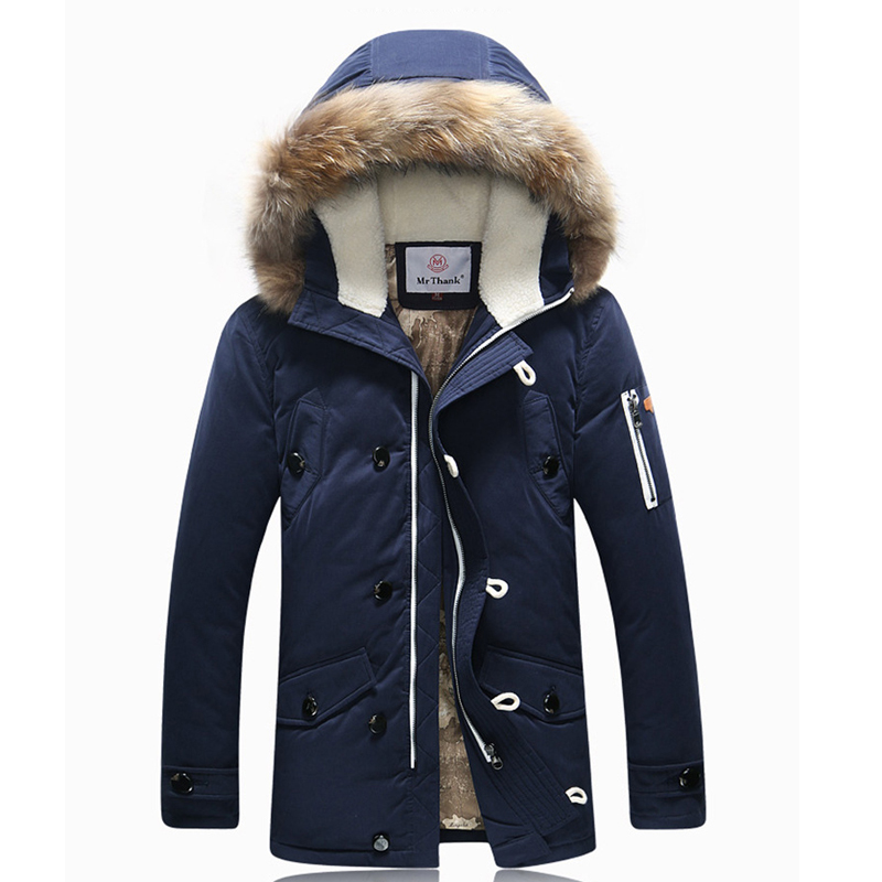 Thicken <font><b>Men's</b></font> Down Jacket Average 1.4KG/pcs Long Section Leisure <font><b>Winter</b></font> <font><b>Fashion</b></font> White Duck Down Coat <font><b>Faux</b></font> <font><b>Fur</b></font> Trench <font><b>Hood</b></font> <font><b>Parkas</b></font>