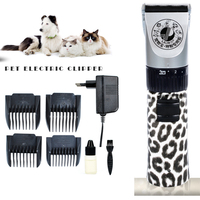 Professional Pet Hair Trimmer Dog Cats Rabbits Shaver 15W Power Grooming Electric Clipper Ceramic Blades Cutting Machine DZT001