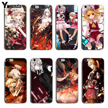 Yinuoda Anime Touhou yeux écarlates Blondes coque transparente étui pour iphone 6 6plus 7 7plus 8 8plus X XS XR XSMax(China)