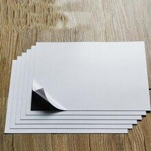 A4 6 ورقة ذاتية اللصق لينة المطاط المغناطيسي لوح ورقي 0.75 مللي متر ل spellالموثق يموت/الحرفية قوية رقيقة ومرنة 297x210 مللي متر
