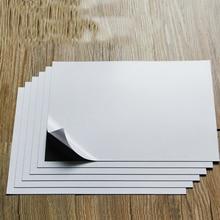 Самоклеящиеся мягкие резиновые магнитные листы A4, 6 листов, 0,75 мм для пресс форм spellсвязывающих, прочные тонкие и гибкие, x мм
