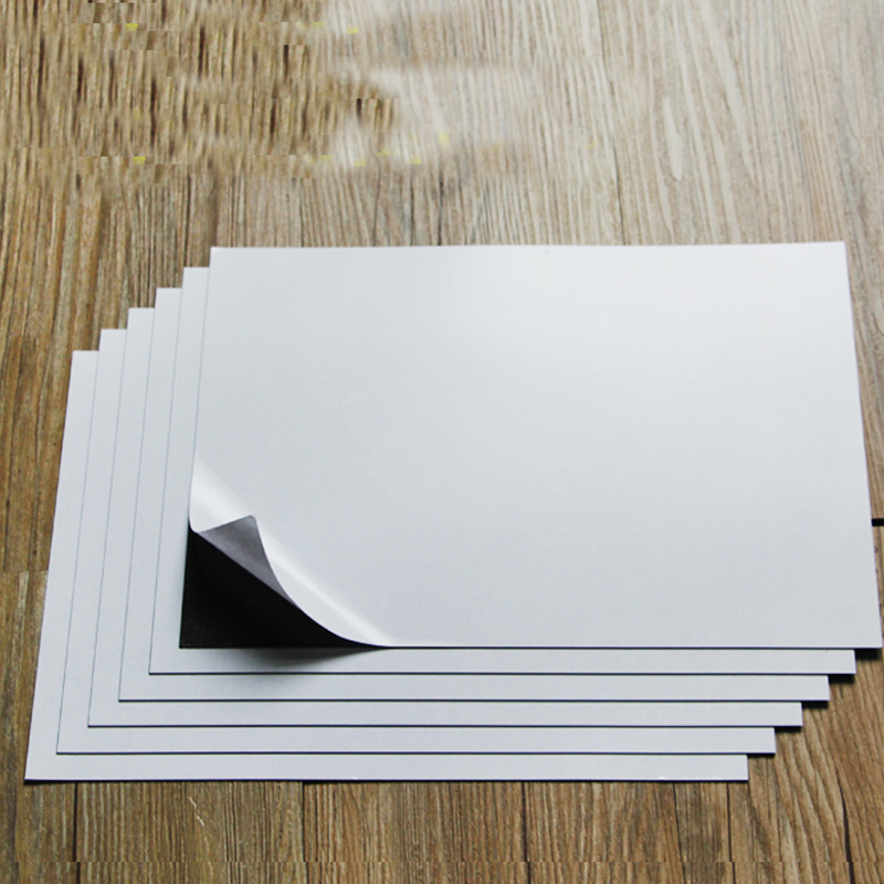 A4 6Sheets Self Adhesive Soft Rubber Magnetic Sheet Board 0.75mm For Spellbinder Dies/Craft Strong Thin And Flexible 297x210mm