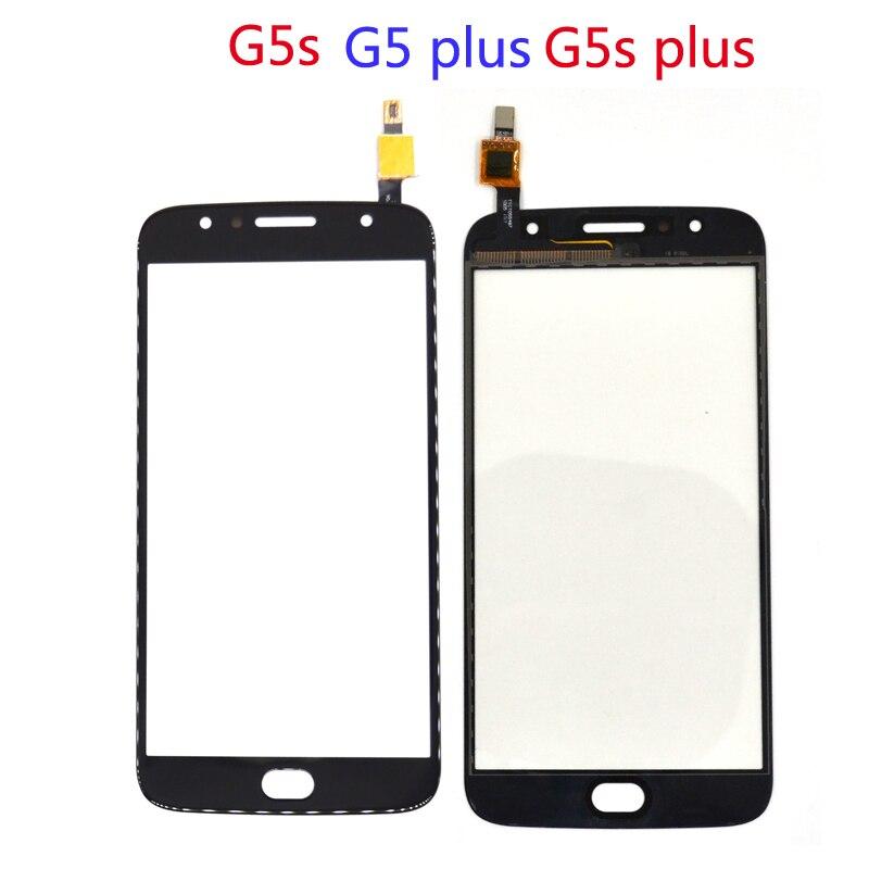 For Motorola Moto G5S XT1793 Touch Panel For Moto Moto G5S Plus XT1802 Screen Front Glass