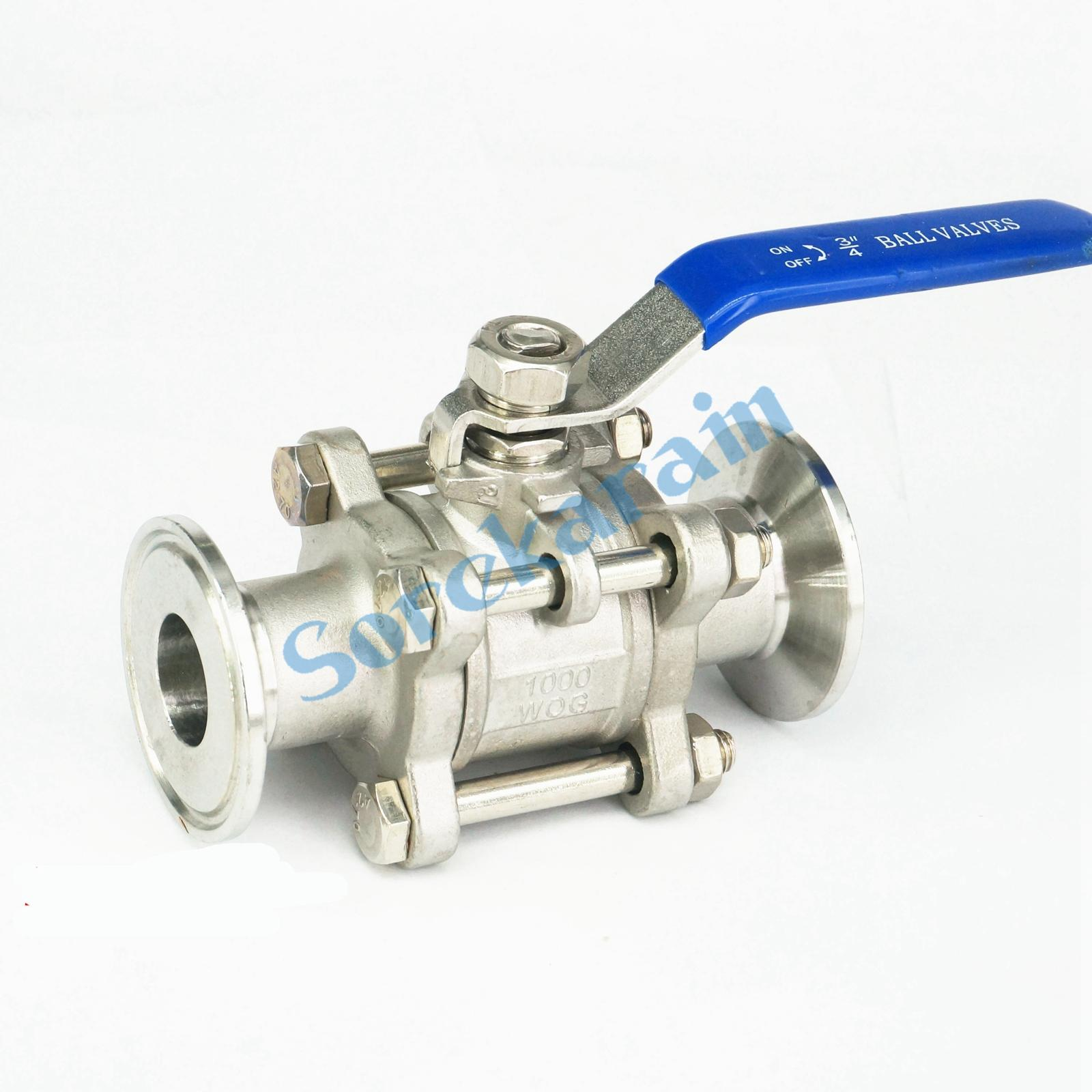 Fit 25mm 1 Pipe OD 1.5 Tri Clamp SS304 Stainless Steel 3-Piece Ball Valve tri clamp stainless steel 304 flexible hose length 1000mm diameter 1 25mm od 50 5