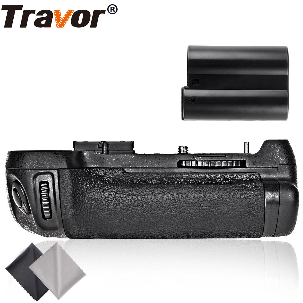 Travor Battery Grip for nikon D800 D800E D810 DSLR Camera replacement MB-D12+1pc EN-EL15 +2pcs Microfiber Cleaning Cloth nikon mb d11 replacement battery grip for nikon d7000 black